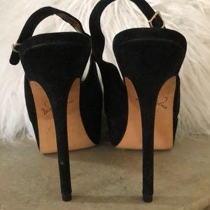Sam Edelman Shoes - Sexy Peep Tie Suede Platform Sky High Heels Kiana